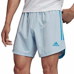 Short adidas Condivo 20 Primeblue - Pantalón corto de entrenamiento de fútbol adidas - azul celeste - frontal