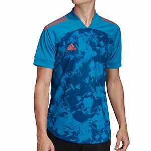 Camiseta adidas Condivo 20 - Camiseta entrenamiento fútbol adidas - azul - frontal