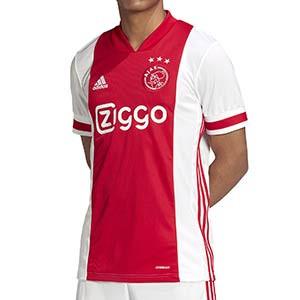 Camiseta adidas Ajax 2020 2021 - Camiseta primera equipación adidas Ajax 2020 2021 - roja y blanca - frontal