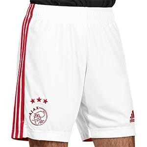 Short adidas Ajax 2020 2021 - Pantalón corto adidas primera equipación Ajax 2020 2021 - blanco - frontal