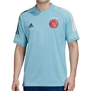 Camiseta adidas Ajax entreno 2020 2021 - Camiseta entrenamiento adidas Ajax 2020 2021 - azul celeste - frontal