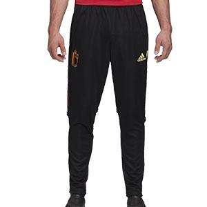 Pantalón adidas Bélgica entreno 2020 2021 - Pantalón largo de entrenamiento selección belga 2020 2021 - negro - frontal