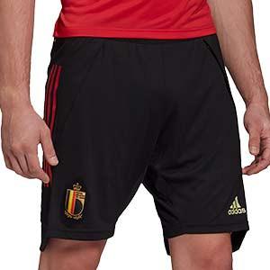 Short adidas Bélgica entreno 2019 2020 - Pantalón corto de entrenamiento selección belga 2019 2020 - negro - frontal