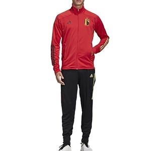 Chándal adidas Bélgica 2019 2020 - Conjunto de chándal adidas de la selección belga 2019 2020 - rojo y negro - frontal