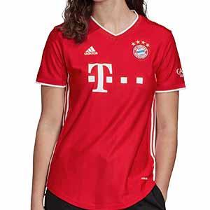 Camiseta adidas Bayern mujer 2020 2021 - Camiseta de mujer adidas de la primera equipación del Bayern de Munich 2020 2021 - roja - frontal