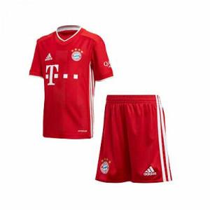 Equipación adidas niño pequeño Bayern 2020 2021 - Conjunto infantil 1-6 años primera equipación adidas Bayern de Munich 2020 2021 - rojo - frontal