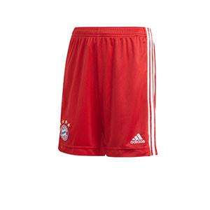Short adidas Bayern niño 2020 2021 - Pantalón corto infantil adidas primera equipación del Bayern de Munich 2020 2021 - rojo - frontal