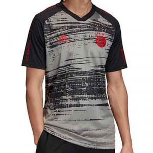 Camiseta adidas pre-match Bayern 2020 2021 - Camiseta pre partido adidas Bayern de Múnich 2020 2021 - gris y negra - frontal
