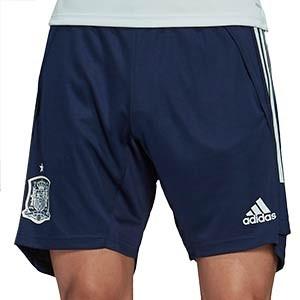 Short adidas España entreno 2020 2021 - Pantalón corto de entrenamiento selección española 2020 2021 - azul marino - frontal