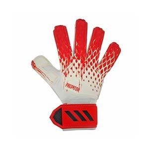 adidas Predator Match - Guantes de portero adidas corte positivo - blancos y rojos - frontal derecho