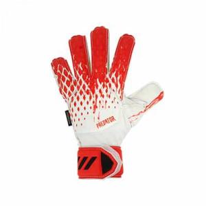 adidas Predator Match FingerSave J - Guantes de portero con protecciones para niño adidas corte positivo - blancos y rosas - frontal