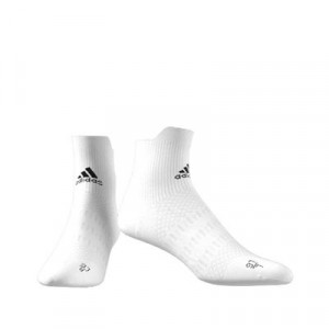 Calcetines adidas Alphaskin semi acolchados - Calcetines tobilleros de entrenamiento adidas - blancos - frontal