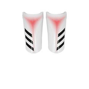 adidas Predator Training - Espinilleras de fútbol adidas con cintas de velcro - blancas - frontal