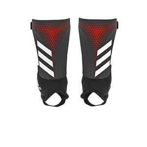 adidas Predator Match - Espinilleras de fútbol adidas con tobillera protectora - negras y rojas - frontal