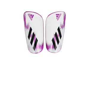 Espinilleras adidas X League - Espinilleras de fútbol adidas con mallas de sujeción - blancas y rosas - miniatura