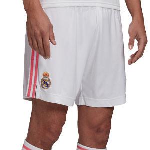 Short adidas Real Madrid 2020 2021 - Pantalón corto primera equipación adidas Real Madrid 2020 2021 - blanco - frontal