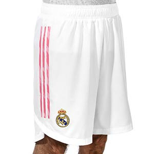 Short adidas Real Madrid authentic 2020 2021 - Pantalón corto authentic primera equipación Real Madrid 2020 2021 - blanco - frontal