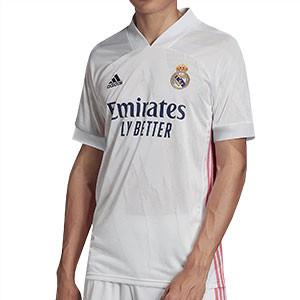 Camiseta adidas Real Madrid 2020 2021 - Camiseta primera equipación adidas del Real Madrid 2020 2021 - blanca - frontal
