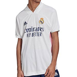 Camiseta adidas Real Madrid 2020 2021 authentic - Camiseta adidas authentic primera equipación Real Madrid 2020 2021 - blanca - frontal