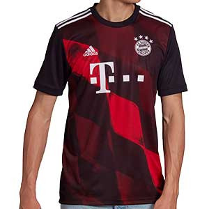 Camiseta adidas 3a Bayern 2020 2021 - Camiseta tercera equipación adidas Bayern Munich 2020 2021 - negra y roja - frontal