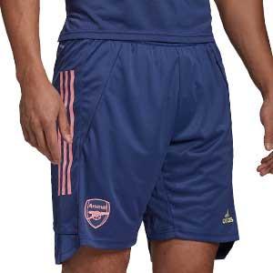 Short adidas Arsenal entreno 2020 2021 - Pantalón corto de entrenamiento adidas del Arsenal FC 2020 2021 - azul marino - frontal