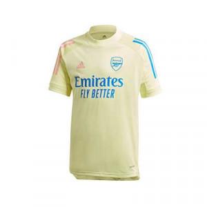 Camiseta adidas Arsenal entreno niño 2020 2021 - Camiseta de entrenamiento infantil del Arsenal FC 2020 2021 - amarilla - frontal
