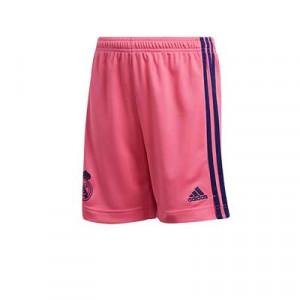 Short adidas 2a Real Madrid niño 2020 2021 - Pantalón corto infantil segunda equipación adidas del Real Madrid 2020 2021 - rosa - frontal