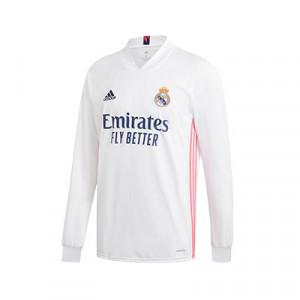 Camiseta adidas Real Madrid 2020 2021 - Camiseta de manga larga de la primera equipación del Real Madrid 2020 2021 - blanca - frontal