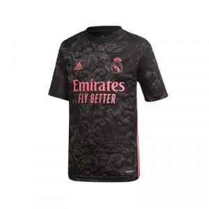 Camiseta adidas 3a Real Madrid niño 2020 2021 - Camiseta infantil tercera equipación adidas Real Madrid CF 2020 2021 - negra - frontal