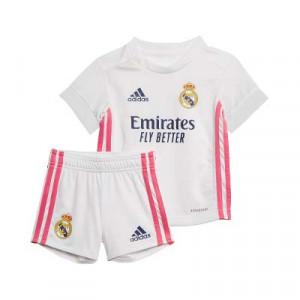 Equipación adidas Real Madrid bebé 2020 2021 - Conjunto de bebé 3-18 meses primera equipación adidas Real Madrid 2020 2021 - blanca - frontal