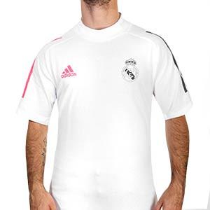 Camiseta algodón adidas Real Madrid - Camiseta algodón de paseo adidas del Real Madrid 2020 2021 - blanca - frontal
