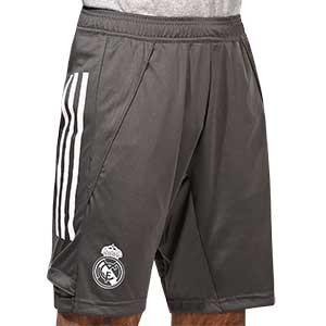 Short adidas Real Madrid entreno 2020 2021 - Pantalón corto entrenamiento adidas Real Madrid 2020 2021 - gris - frontal