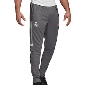 Pantalón adidas Real Madrid entreno 2020 2021 - Pantalón largo de entrenamiento adidas del Real Madrid 2020 2021 - gris - frontal