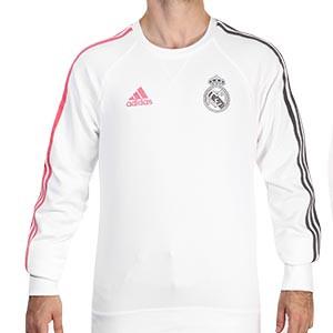 Sudadera adidas Real Madrid 2020 2021 - Sudadera de algodón Real Madrid 2020 2021 - blanca - frontal