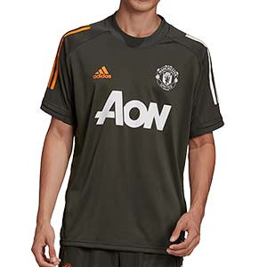 Camiseta adidas United entreno 2020 2021 - Camiseta de entrenamiento del Manchester United 2020 2021 - verde oscuro - miniatura