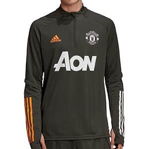 Sudadera adidas United entreno 2020 2021 - Sudadera de entrenamiento del Manchester United 2020 2021 - verde oscuro - frontal