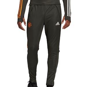 Pantalón adidas United entreno 2020 2021 - Pantalón largo de entrenamiento adidas del Manchester United 2020 2021 - verde oscuro - miniatura