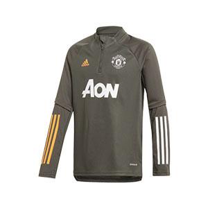 Sudadera adidas United entreno niño 2020 2021 - Sudadera de entrenamiento infantil adidas del Manchester United 2020 2021 - verde oscuro - miniatura