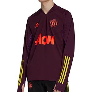 Sudadera adidas United entreno UCL 2020 2021 - Sudadera de entrenamiento adidas Manchester United de la Champions League 2020 2021 - morada - frontal
