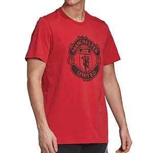 Camiseta algodón adidas United DNA Graphic - Camiseta de algodón de paseo adidas del Manchester United - roja - frontal