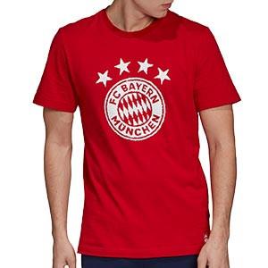 Camiseta adidas Bayern DNA Graphic - Camiseta de algodón del Bayern de Munich - roja - frontal