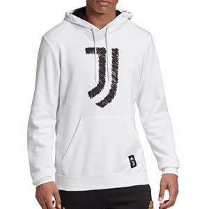 Sudadera adidas Juventus DNA Hoodie - Sudadera con capucha de paseo adidas de la Juventus - blanca - frontal