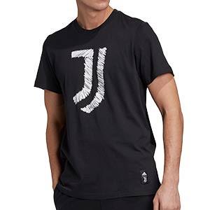 Camiseta algodón adidas Juventus DNA Graphic - Camiseta de algodón de paseo adidas de la Juventus - blanca - miniatura