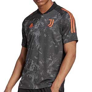Camiseta adidas Juventus entreno UCL 2020 2021 - Camiseta entrenamiento Champions League adidas Juventus 2020 2021 - gris - frontal