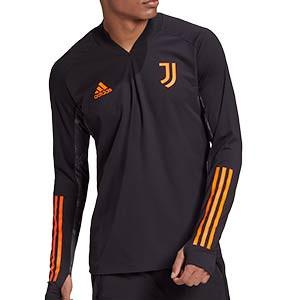Sudadera adidas Juventus entreno UCL 2020 2021 - Sudadera entrenamiento Champions League adidas Juventus 2020 2021 - negra - frontal