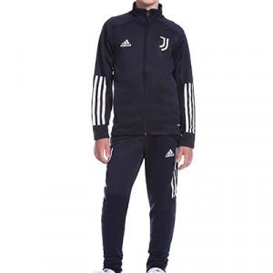 Chándal adidas Juventus niño 2020 2021 - Chándal infantil adidas de la Juventus 2020 2021 - azul marino - frontal