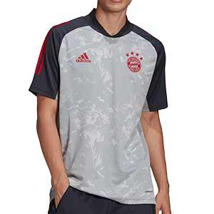 Camiseta adidas Bayern Munich entreno UCL 2020 2021 - Camiseta entrenamiento adidas Bayern Munich de la Champions League 2020 2021 - gris - frontal