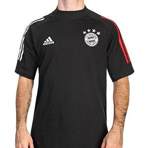 Camiseta algodón adidas Bayern - Camiseta de manga corta de algodón del Bayern de Munich - negra - frontal