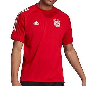 Camiseta adidas Bayern entreno 2020 2021 - Camiseta de entrenamiento del Bayern de Munich 2020 2021 - roja - frontal