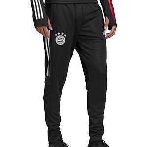 Pantalón adidas Bayern entreno 2020 2021 - Pantalón largo de entrenamiento adidas del Bayern de Munich 2020 2021 - negro - frontal